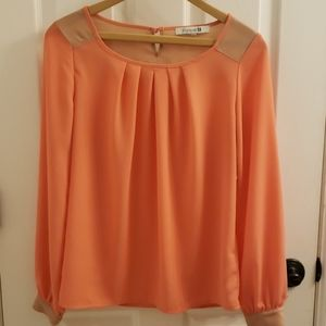 Forever 21 Peach Blouse Size S